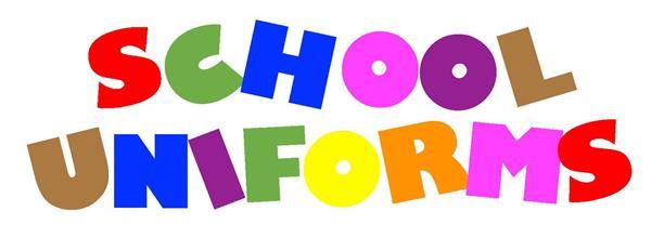 school uniforms sign